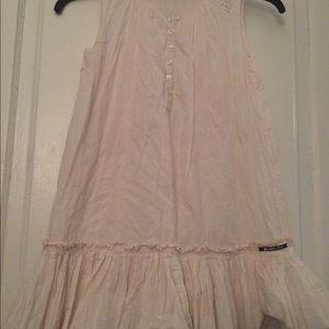 Girls flouncy off white dress